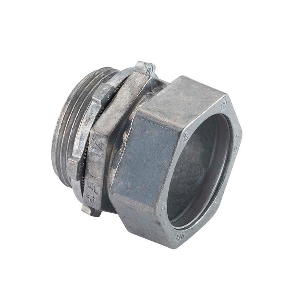 Halex in electrical metallic tube compression