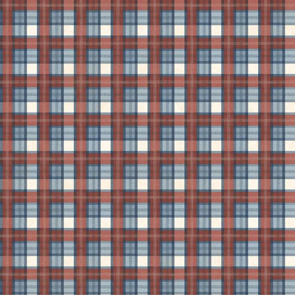 Chesapeake Hans Red Sports Tartan Wallpaper Sample TOT47261SAM