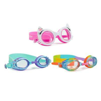 Aqua2ude Kitty Classic Swim Goggle (3- Pack)