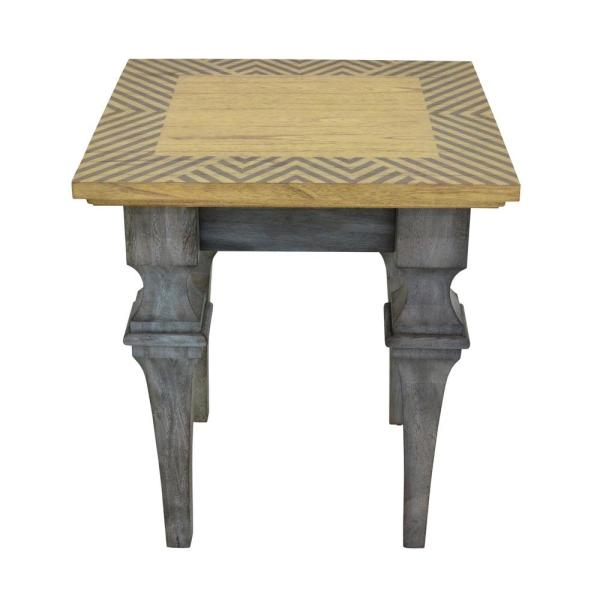 222 Fifth Rue Mont Martre Grey Accent Table 7020GY010AVH51