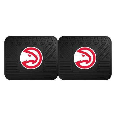 NBA Atlanta Hawks Black Heavy Duty 2-Piece 14 in. x 17 in. Vinyl Utility Mat