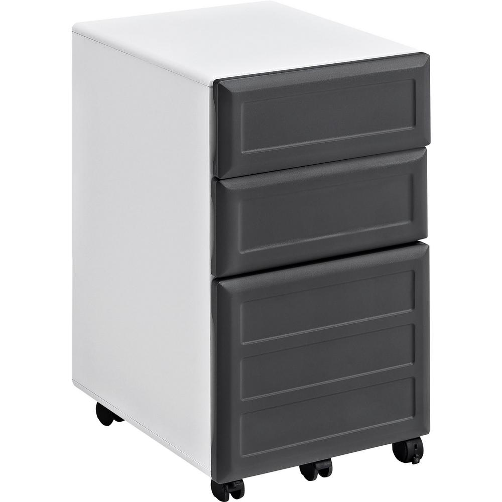 Ameriwood Mansfield 3 Drawer Gray And White Mobile File C..