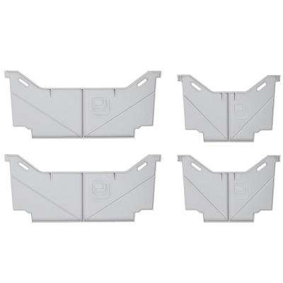 Wide/Narrow Drawer Divider Combo Set for Decked Pick Up Truck Storage System (4-Pack)