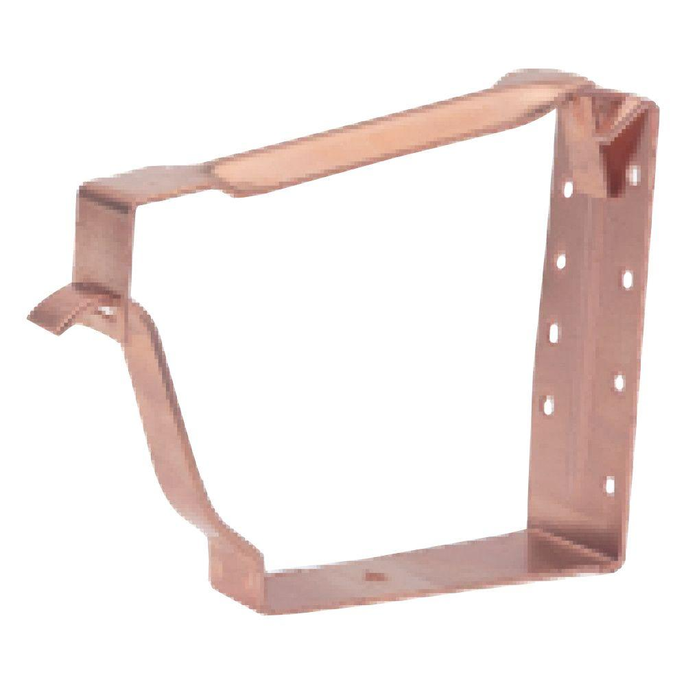 6 in. K-Style Copper Premium Fascia Hanger with Crossbar