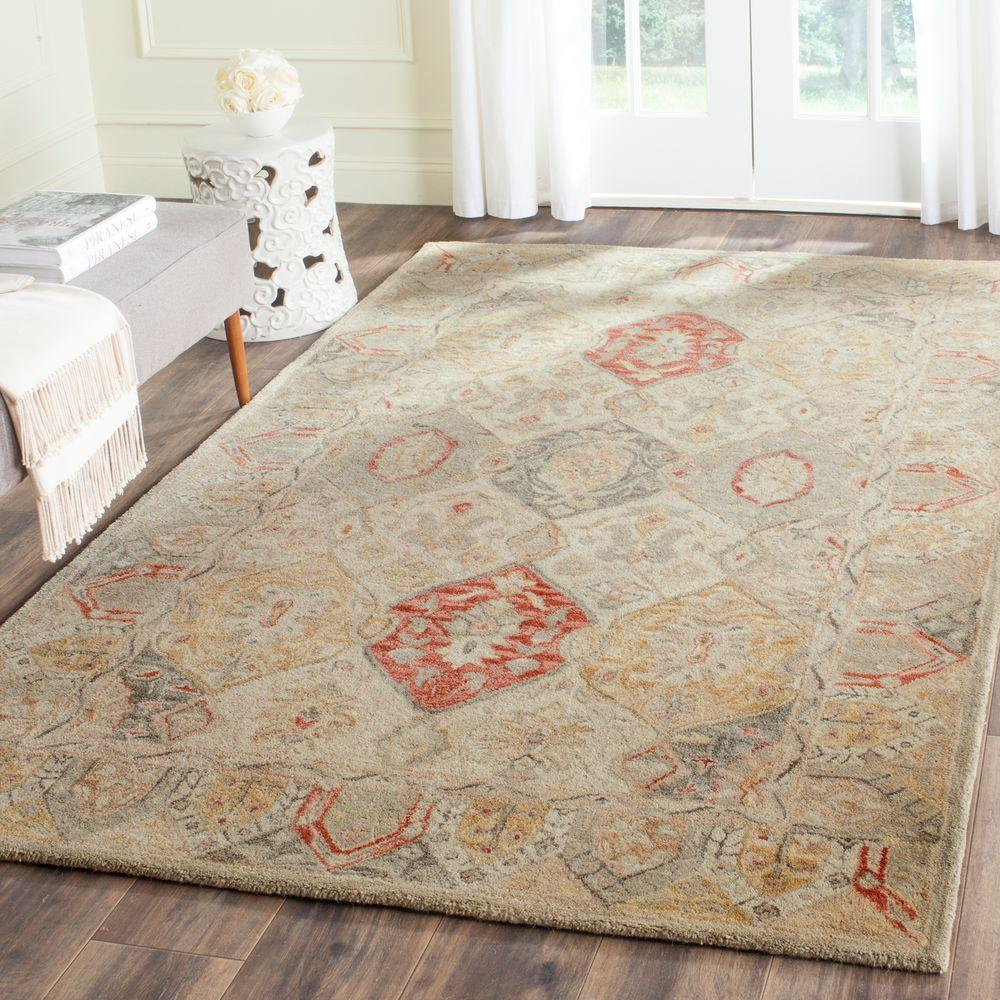 safavieh antiquity beige multi 5 ft x 8 ft area rug at830a 5 the home depot. Black Bedroom Furniture Sets. Home Design Ideas