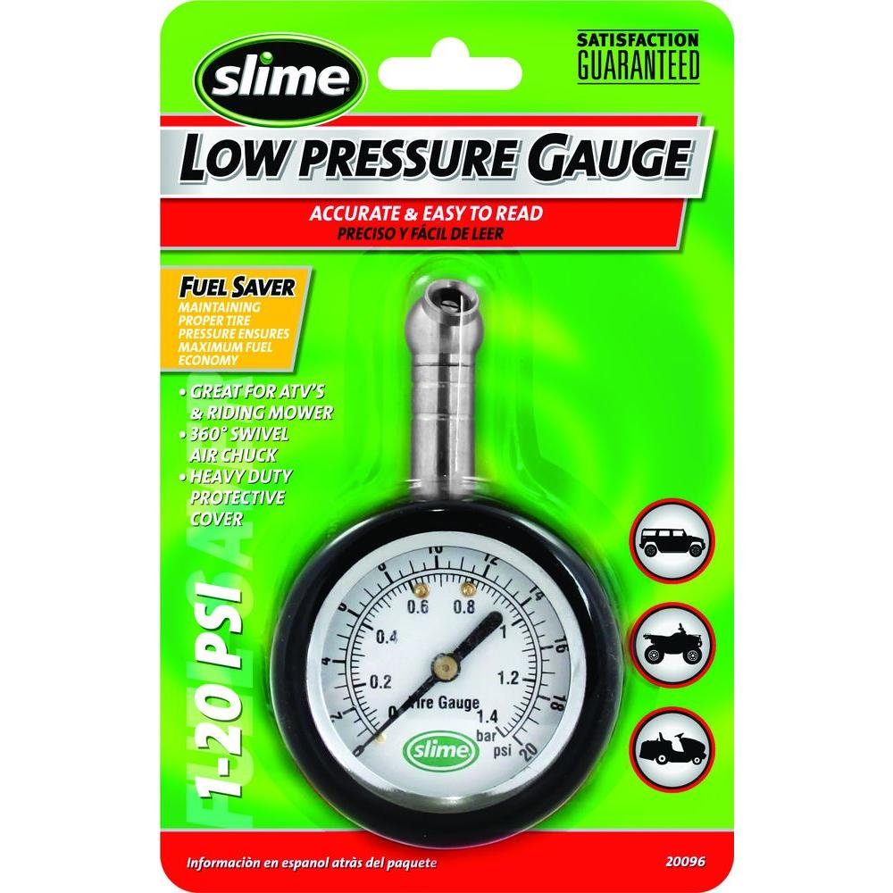 null Slime 1-20 psi Low Pressure Dial Gauge, Carded