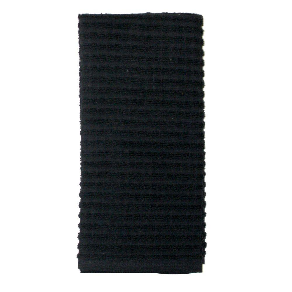 Solid Kitchen Towel in Black-12987 - The Home Depot