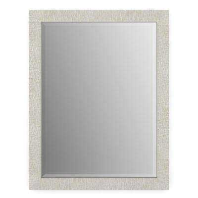 28 in. x 36 in. (M1) Rectangular Framed Mirror with Deluxe Glass and Flush Mount Hardware in Stone Mosaic