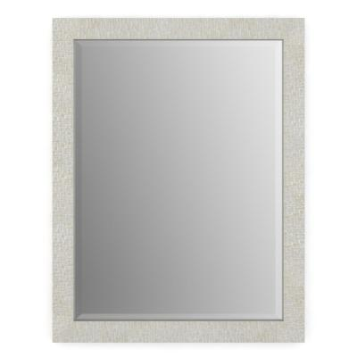 28 in. W x 36 in. H (M1) Framed Rectangular Deluxe Glass Bathroom Vanity Mirror in Stone Mosaic