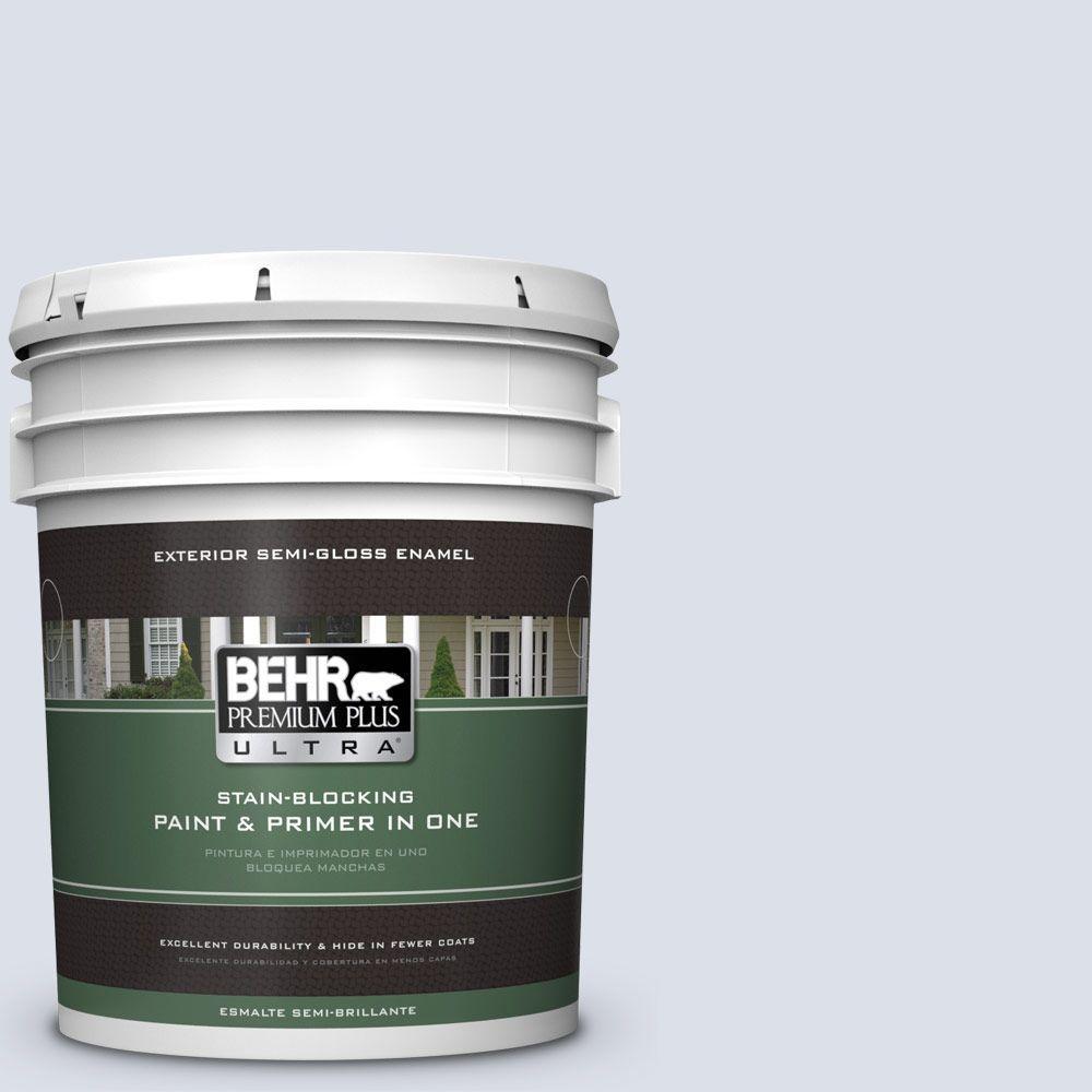 BEHR Premium Plus Ultra 5-gal. #PPL-70 Eastern Breeze Semi-Gloss Enamel Exterior Paint