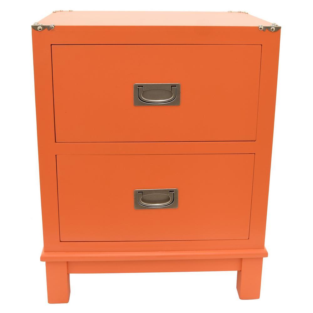 18.75 in. x 13.5 in. Orange Wood Cabinet