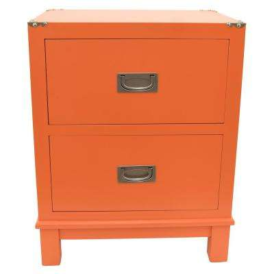 18.75 in. x 13.5 in. Orange Wood Cabinet