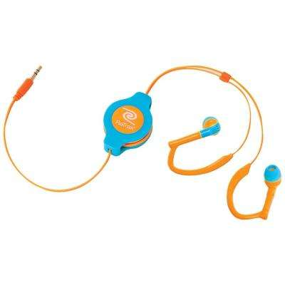Sports Wrap Earbuds Neon, Blue/Orange