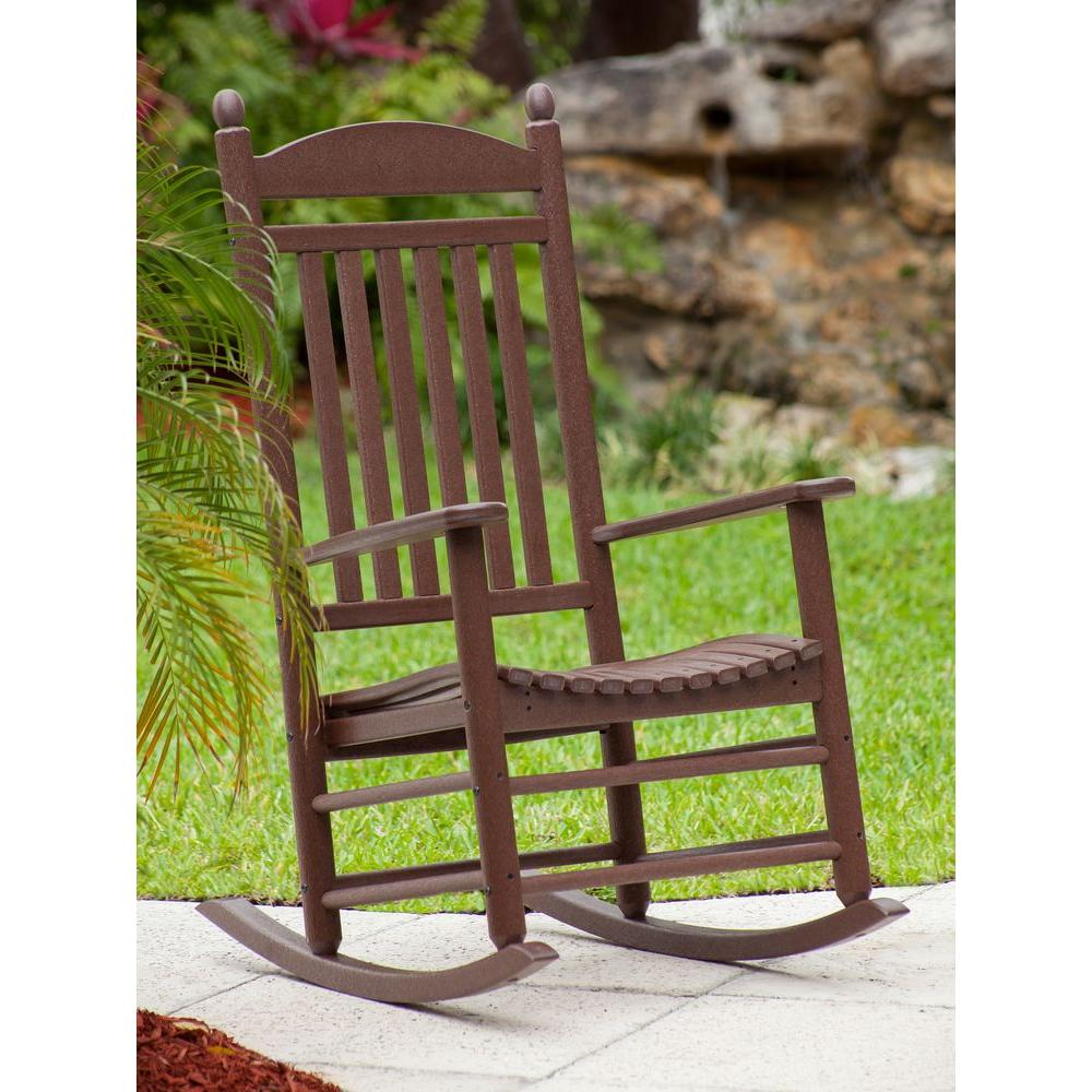 Super Polywood Jefferson Mahogany Patio Rocker Pdpeps Interior Chair Design Pdpepsorg
