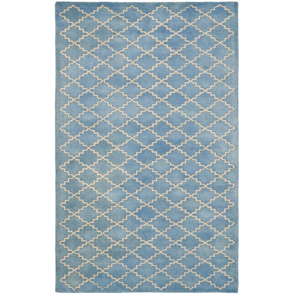 Chatham Blue Grey 5 ft. x 8 ft. Area Rug