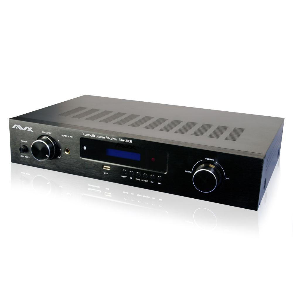 AVX Audio Bluetooth Stereo Amplifier-Receiver With Phono Input and FM Tuner