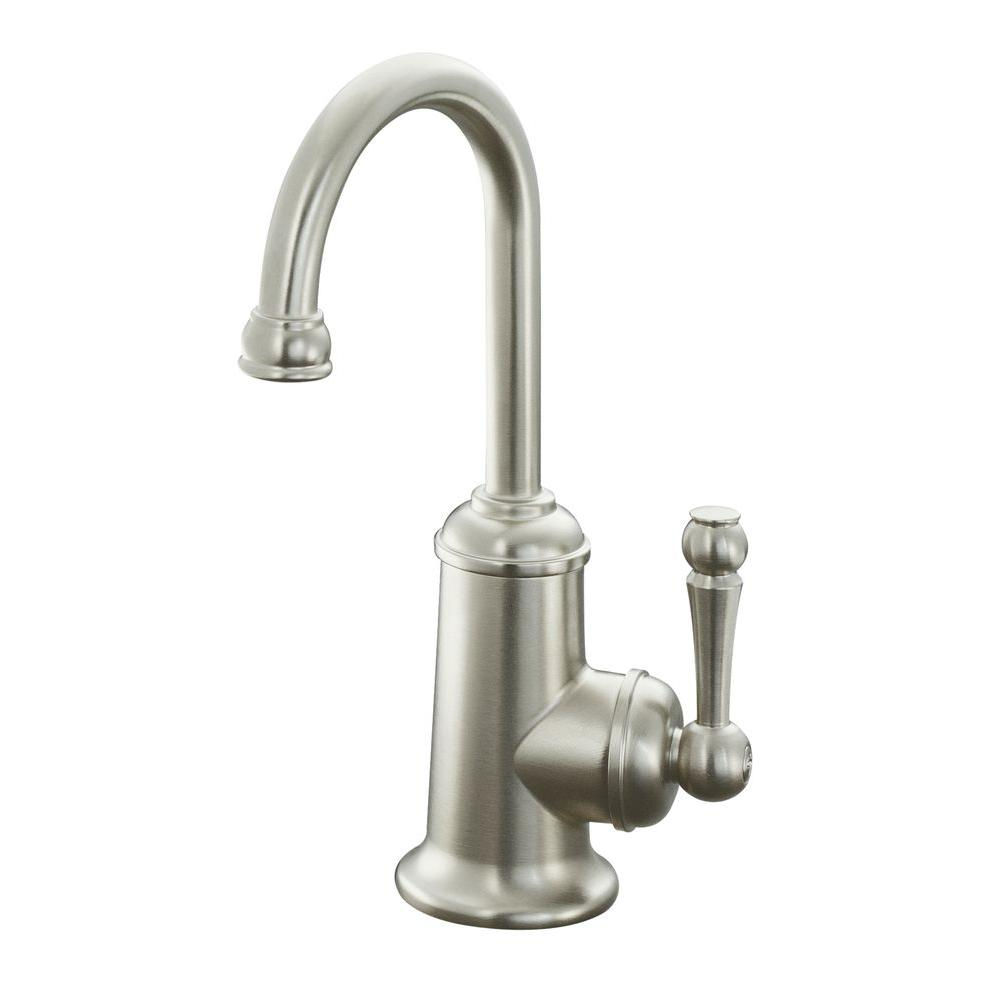 KOHLER Wellspring Single Handle Bar Faucet In Vibrant Brushed Nickel