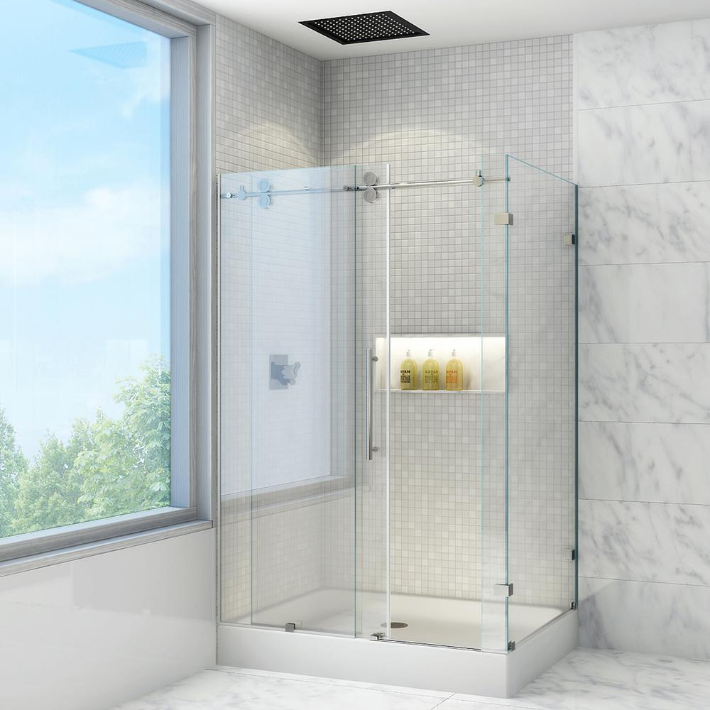 VIGO Winslow 48.125 in. x 79.875 in. Frameless Bypass Shower ...
