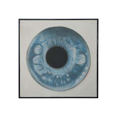 "36 in. x 36 in. ""Eye See"" Hand Painted Framed Canvas Wall Art"