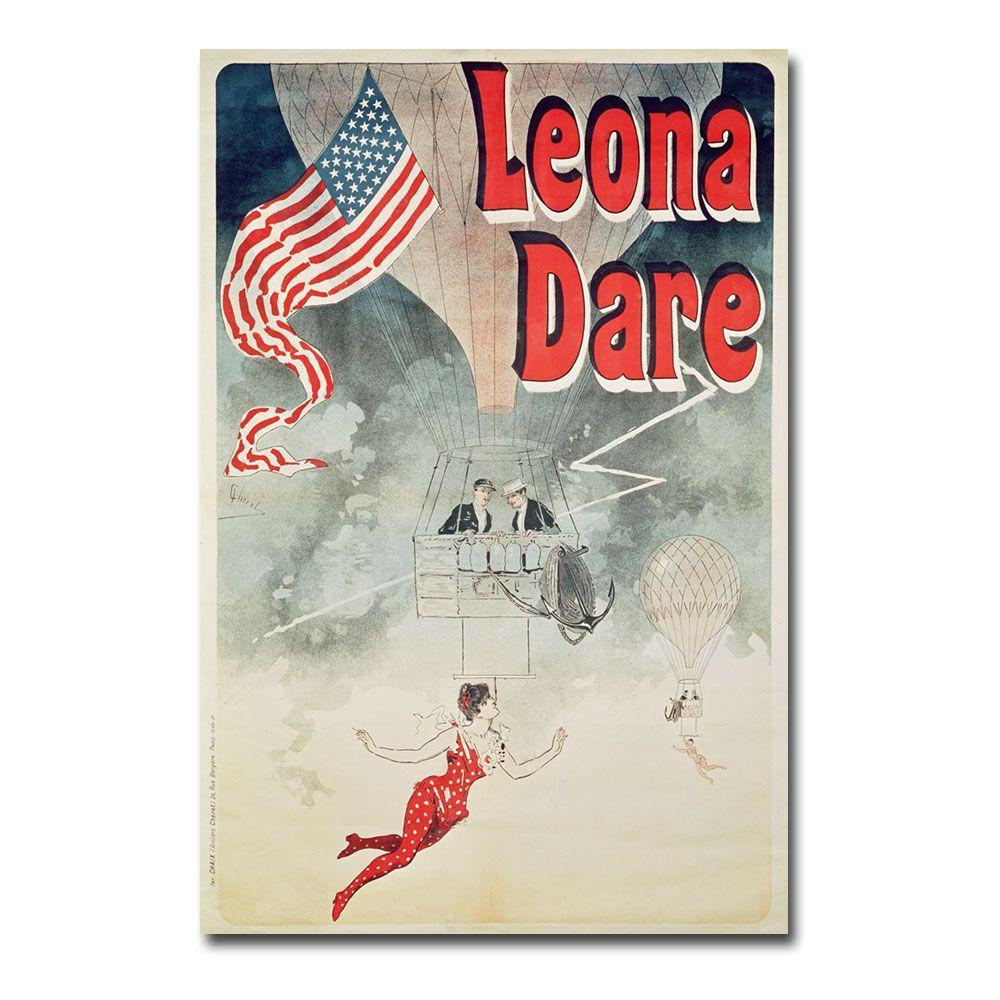 Trademark Fine Art 47 in. x 30 in. Leona Dare 1890 Canvas Art