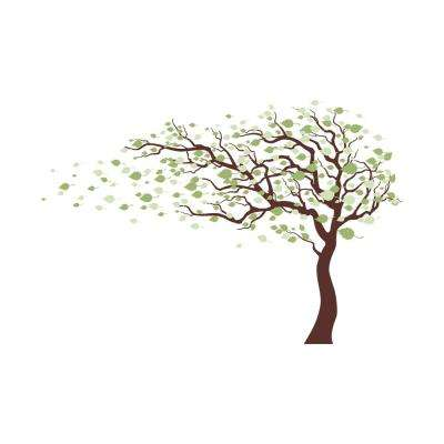 123 in. x 83 in. Multi Blowing in the Wind Tree Removable Wall Decal