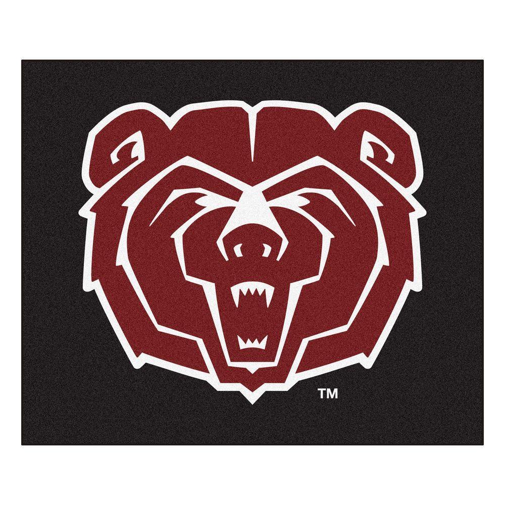 NCAA Missouri State University Black 5 ft. x 6 ft. Area Rug