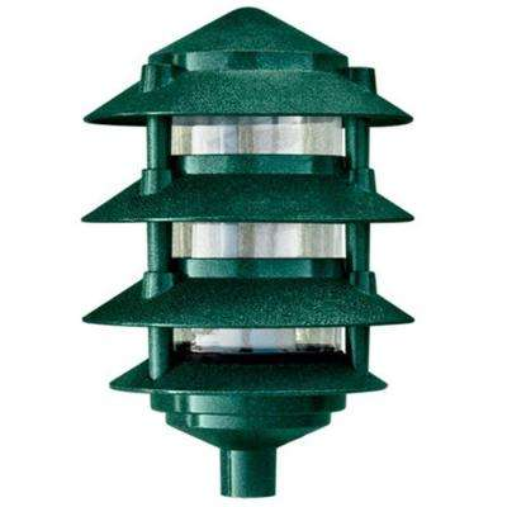 Corbin 1-Light Green 4-Tier Outdoor Pagoda Pathway Light
