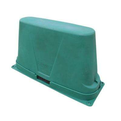 48 in. L x 17 in. W x 27 in. H Large Long Plastic Two Piece Turf Backflow Cover in Green