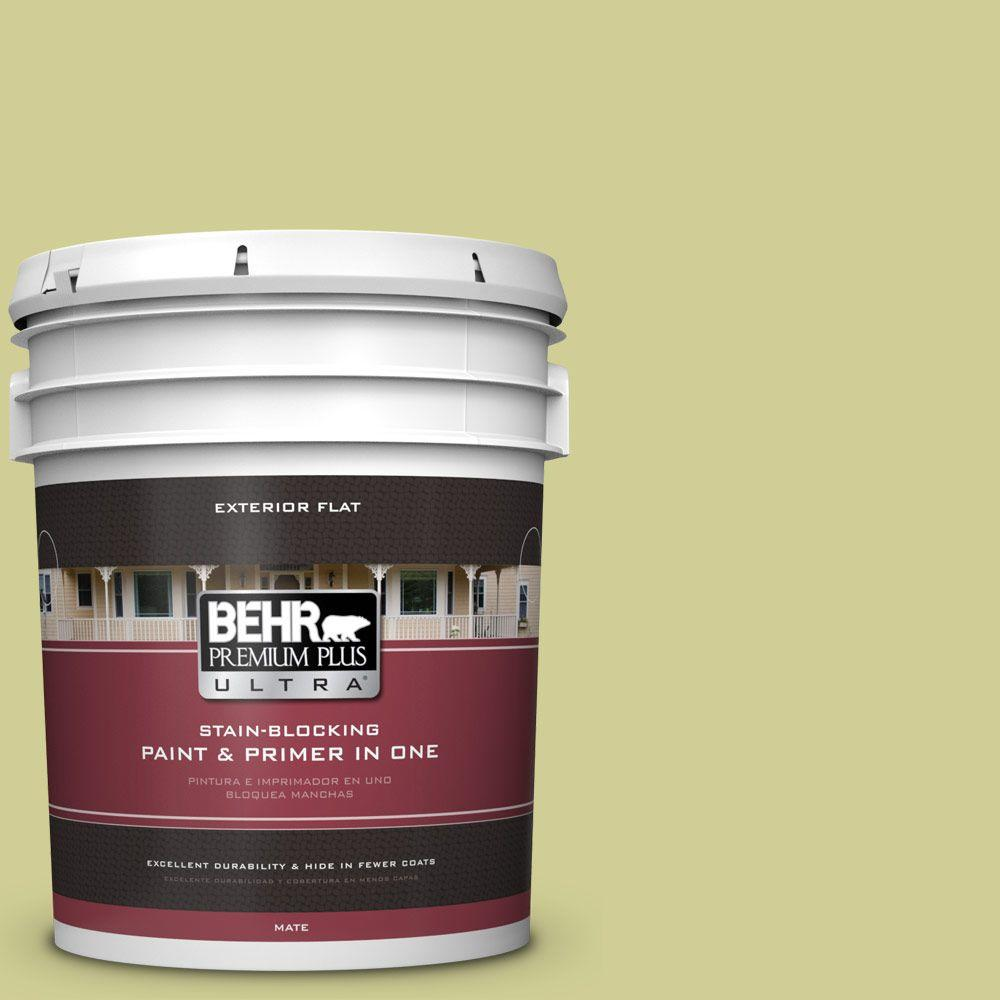 BEHR Premium Plus Ultra 5-gal. #M340-4 Wasabi Flat Exterior Paint