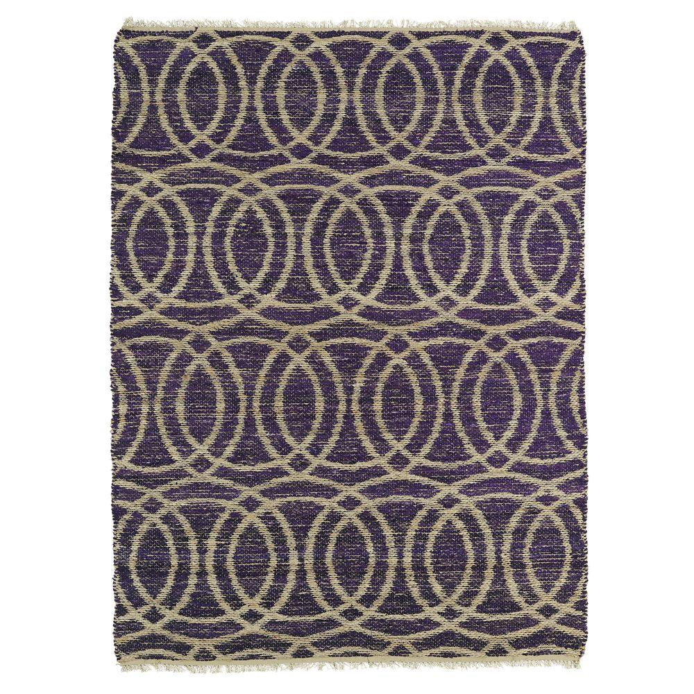 Kenwood Purple 2 ft. x 3 ft. Double Sided Area Rug