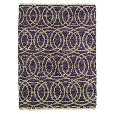 Kenwood Purple 3 ft. 6 in. x 5 ft. 6 in. Double Sided Area Rug