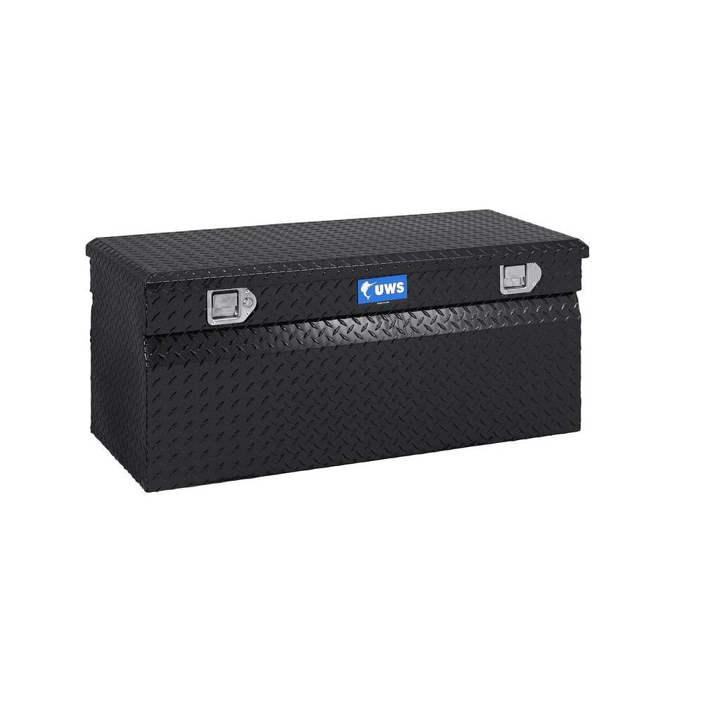 36 in. Aluminum Chest Box, Black