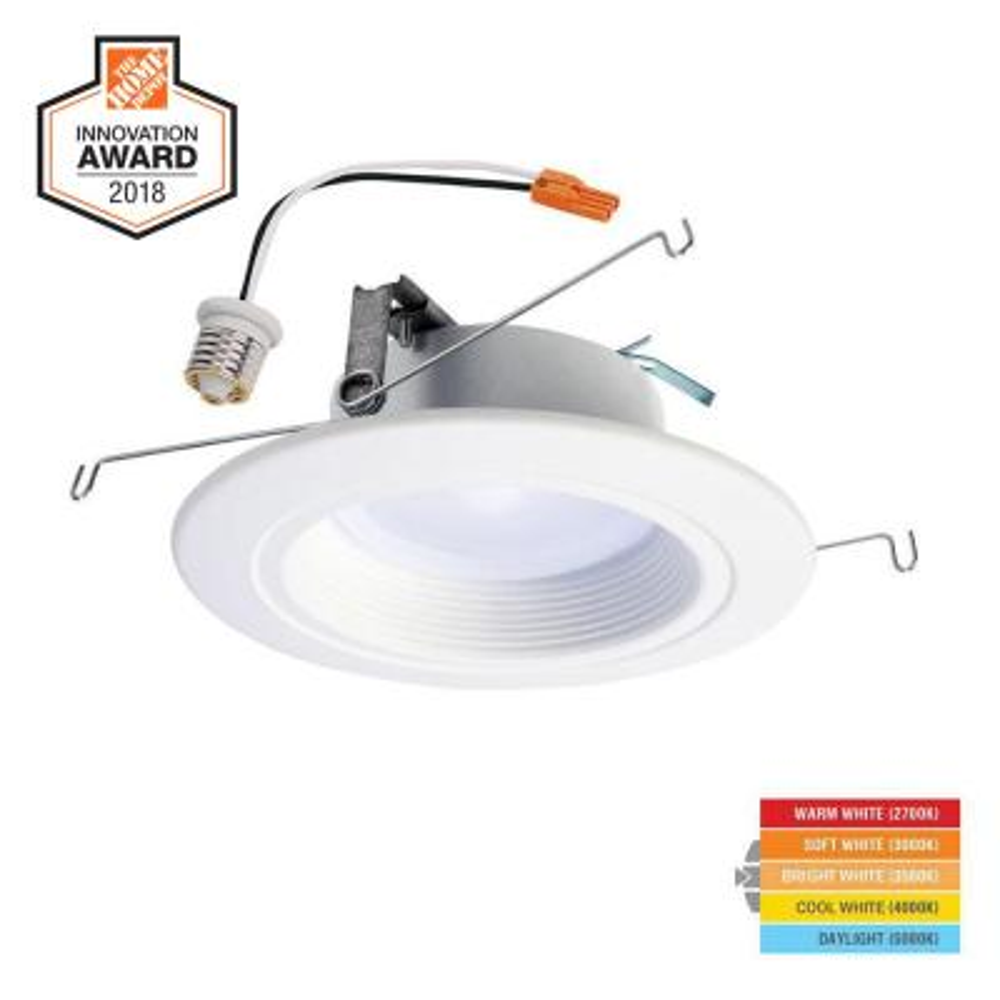 Halo RL 5u0022/6u0022White Integrated LED Recessed Ceiling Light Trim RL56099S1EWHR
