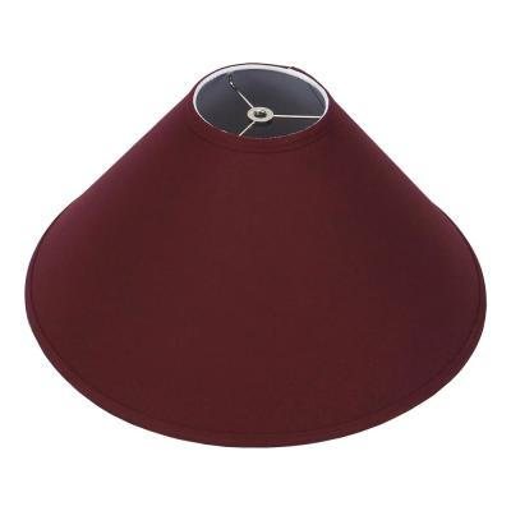 18 in. W x 9 in. H Burgundy/Nickel Hardware Coolie Lamp Shade