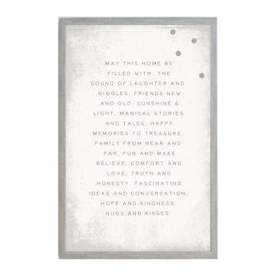 May this Home be Filled Magnet Board,  VINTAGE FRAME, Magnetic Memo Board