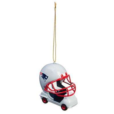 New England Patriots 3 in. NFL Field Car Christmas Ornament