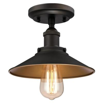 Louis 1-Light Oil Rubbed Bronze Semi-Flush Mount