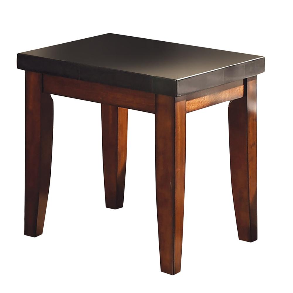 Ordinaire Granite Bello Black Granite Top End Table
