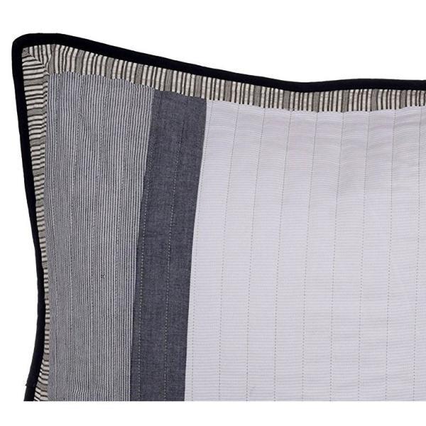 Tideway Blue Striped Cotton Standard Sham
