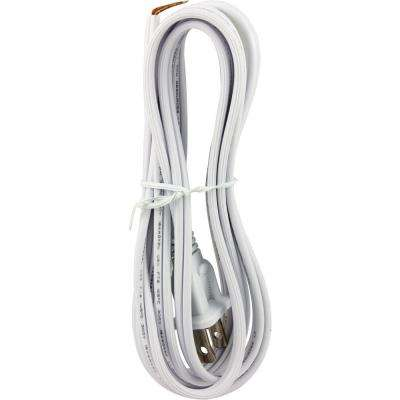 8 ft. White Replacement Cord Set with Polarized Plug on One End