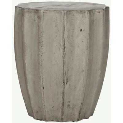 Jaslyn Dark Gray Round Stone Indoor/Outdoor Accent Table
