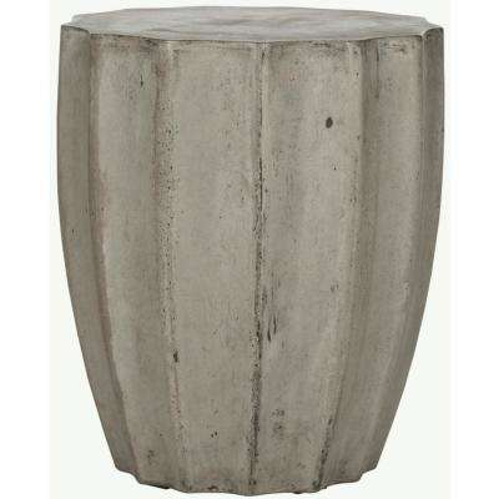 Jaslyn Dark Gray Stone Indoor/Outdoor Accent Table