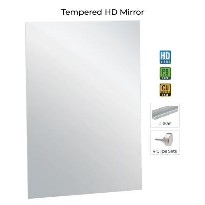 36 in. x 60 in. Rectangle Frameless Flat Polish Mirror with Safety Backing