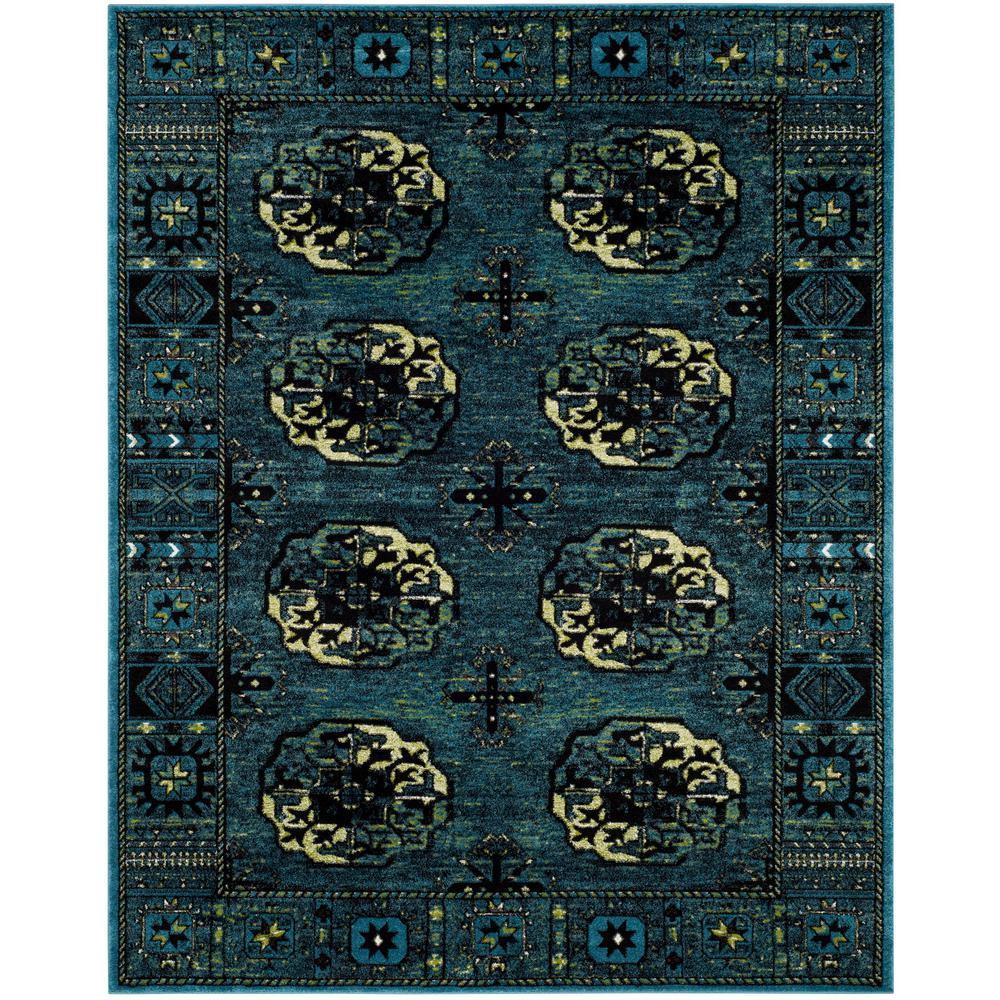 Vintage Hamadan Blue/Multi 9 ft. x 12 ft. Area Rug