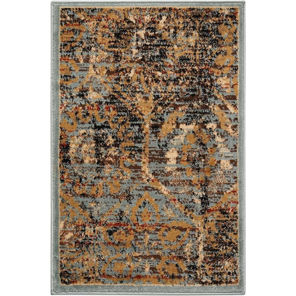 Delano Blue 2 ft. x 3 ft. Accent Rug