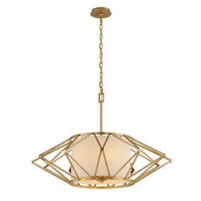 Calliope 6-Light Rustic Gold Leaf Pendant