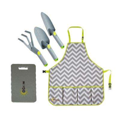 3-Piece Complete Gardening Kit in Grey
