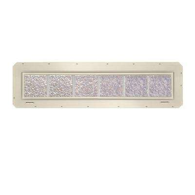 46.75 in. x 9.25 in. x 3.25 in. Ice Pattern Glass Block Window with Almond Colored Vinyl Nailing Fin