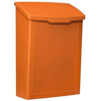 Marina Orange Wall Mount Mailbox