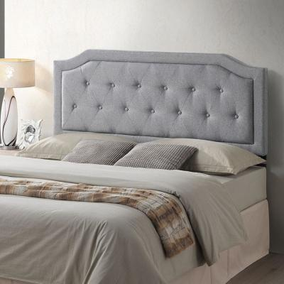 Poly and Bark Kensington Tufted Gray Queen Size Headboard